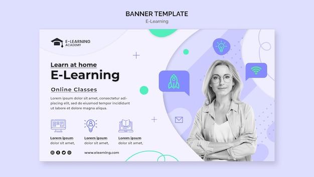 Szablon banera e-learningowego