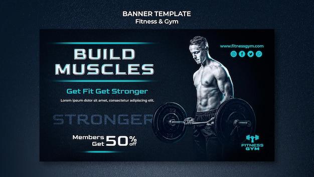 Szablon banera fitness siłowni