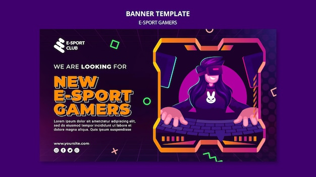 Szablon banera gier e-sportowych