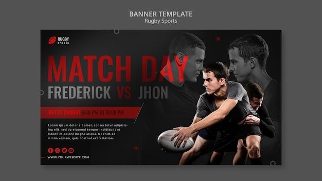 Szablon banera gry w rugby
