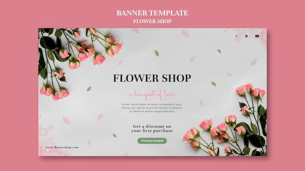 Szablon banera kwiaciarni