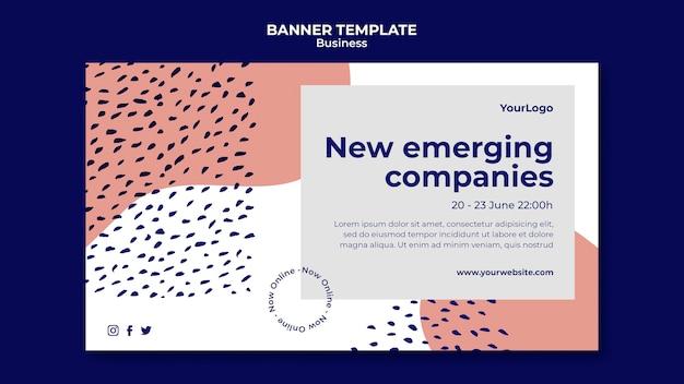 Szablon banera nowych wschodzących firm