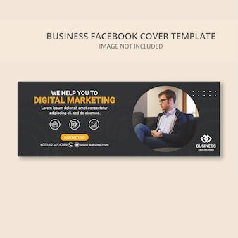 Szablon banera okładki społecznej marketingu cyfrowego biznesu
