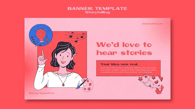 Szablon banera opowiadającego historię