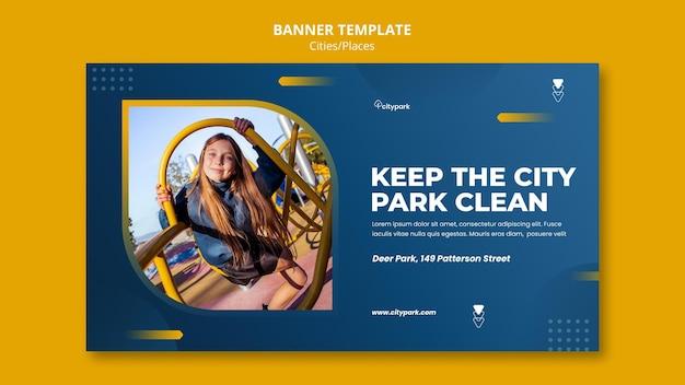 Szablon banera parku miejskiego