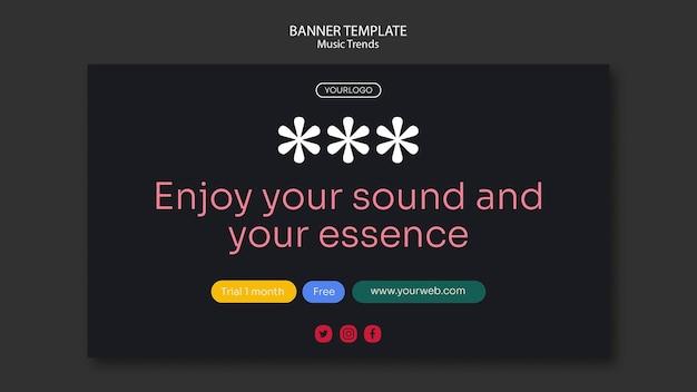 Szablon banera platformy strumieniowego przesyłania muzyki