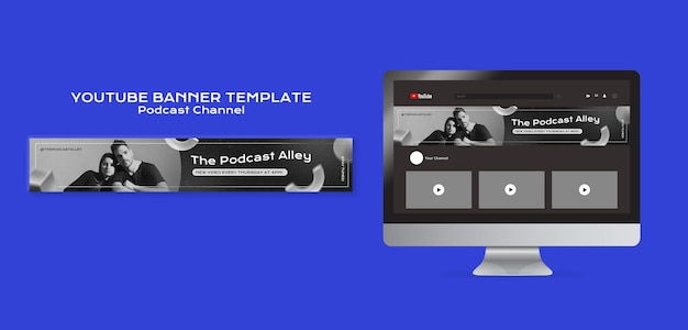 Szablon banera podcast na youtube