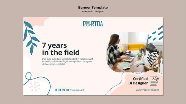 Szablon banera portfolio projektanta
