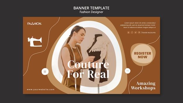 Szablon banera projektowania mody