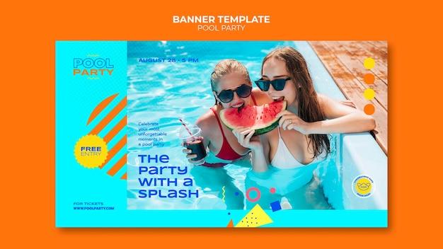 Szablon banera przy basenie