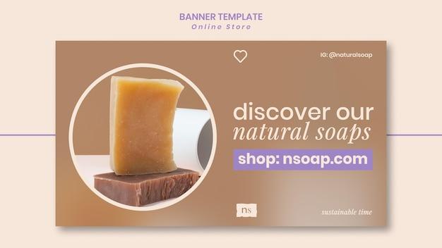 Szablon banera ręcznie robionego sklepu z mydłem