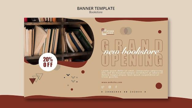 Szablon banera reklamowego księgarni