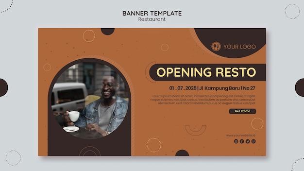 Szablon banera reklamowego restauracji