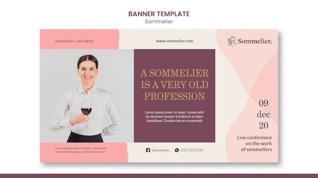 Szablon banera reklamowego sommeliera