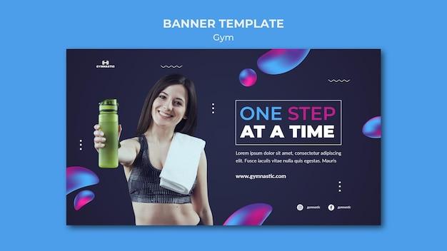 Szablon banera siłowni ze zdjęciem