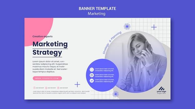 Szablon banera strategii marketingowej
