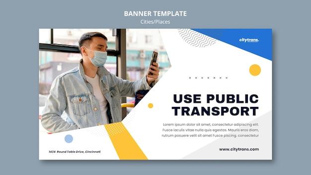 Szablon banera transportu publicznego