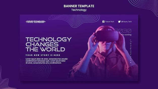 Szablon banera wirtualnej rzeczywistości
