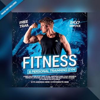 Szablon banner fitness fitness