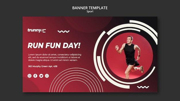 Szablon banner na fitness