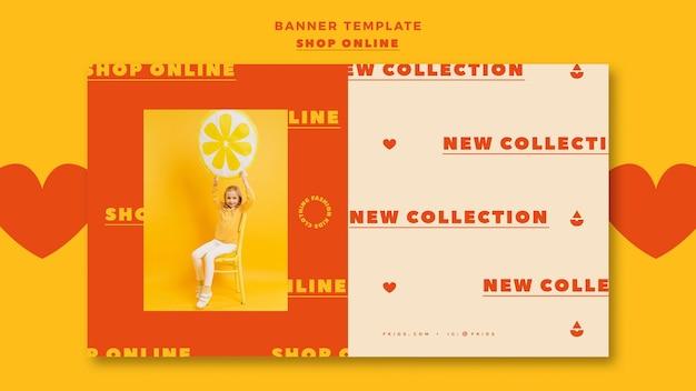 Szablon banner na zakupy online