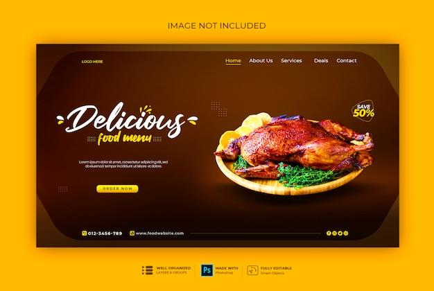 Szablon banner sieci web fast food lub restauracji