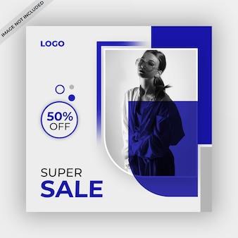 Szablon banner sprzedaży lub postu