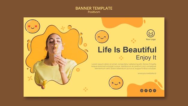 Szablon banner z życiem jest piękny