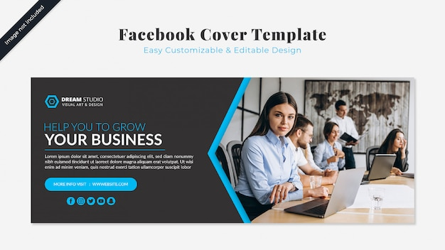 Szablon biznesowy facebook cover