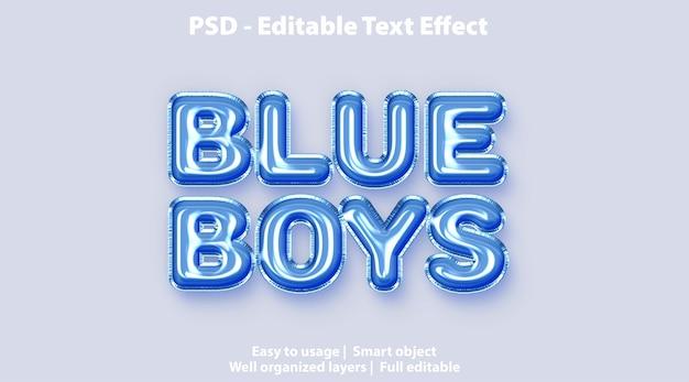 Szablon blue boys z efektem tekstowym