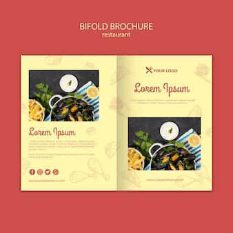Szablon broszura bifold restauracji