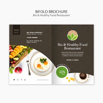Szablon broszura restauracja zdrowej żywności