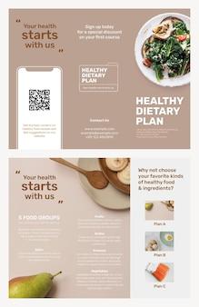 Szablon broszury programu dietetycznego psd