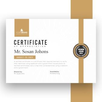 Szablon certyfikatu firmy