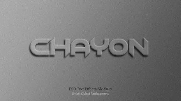 Szablon chayon 3d efekty tekstowe