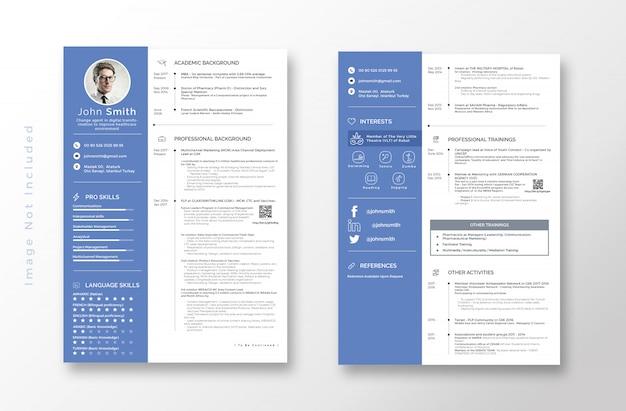 Szablon clean resume cv
