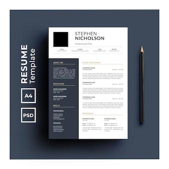Szablon cv o minimalistycznym designie