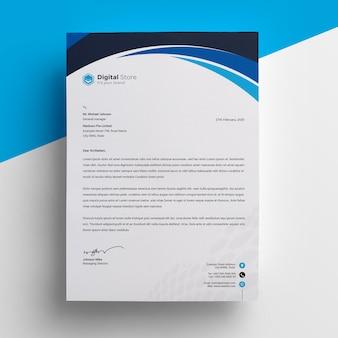 Szablon czarny papier firmowy czarny niebieski