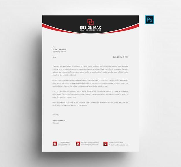 Szablon czerwony papier firmowy