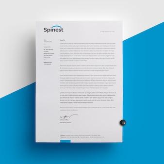 Szablon czystego papieru firmowego