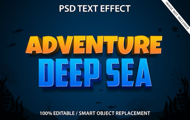 Szablon deep sea adventure z efektami tekstowymi