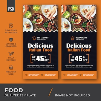 Szablon dl food flyer
