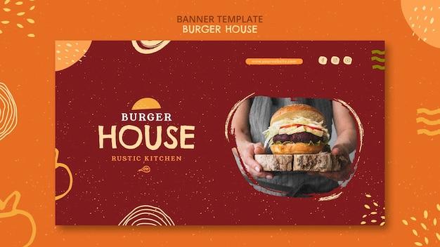 Szablon domu burger