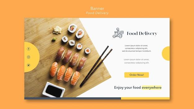 Szablon dostawy żywności transparent