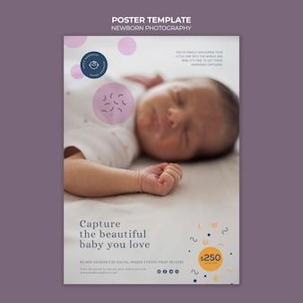 Szablon druku fotografii noworodka