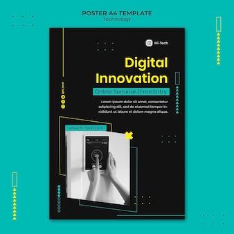 Szablon druku innowacji cyfrowych
