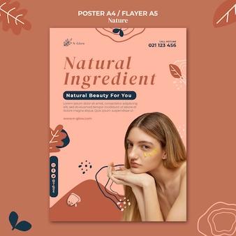 Szablon druku naturalnych produktów do pielęgnacji skóry