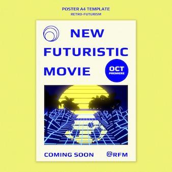 Szablon druku retro-futuryzmu