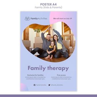 Szablon druku rodzinnego ze zdjęciem