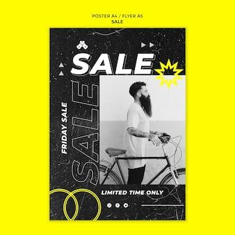 Szablon druku sprzedaży mody